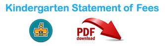 Kindergarten Statement of Fees